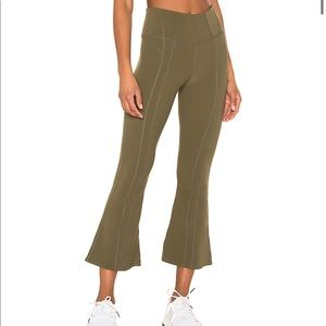 Free People Movement High Rise Lyla Flare in Army